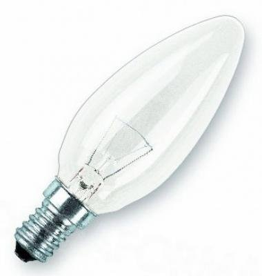 20er Set Kerzenlampe Glühlampe 40 Watt E14 klar ~ Glühbirne Kerze
