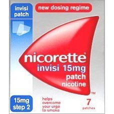 Nicorette Invisi Nicotine Patches Step 2 - 15Mg 7 patches - PACK OF 2 by Nicorette