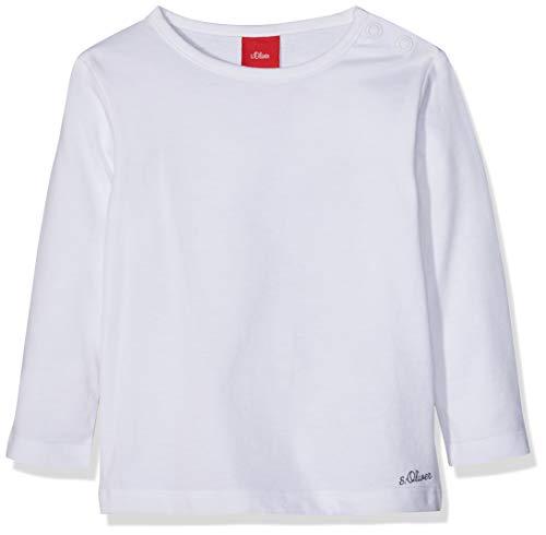 s.Oliver Junior Unisex Baby 56.899.31.0740 T-Shirt, Weiß (White 0100), 86