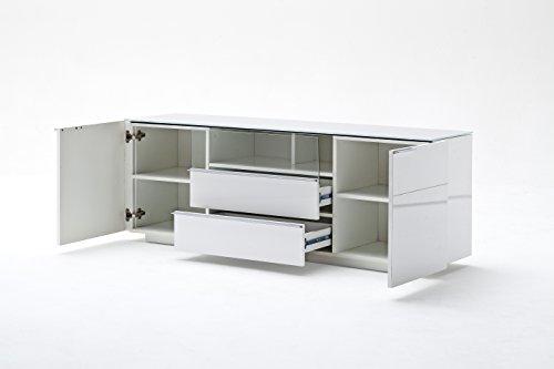 Robas Lund 48773W54 Canberra 2 Lowboard,Hochglanz weiß 165 x 41 x 58 cm - 4
