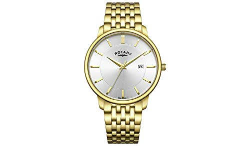 Rotary Men's Gold Plated Stainless Steel Bracelet Watc Best Price and Cheapest