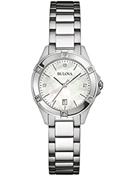 Bulova Diamond 96W205 - Damen Designer-Armbanduhr - Armband aus Edelstahl