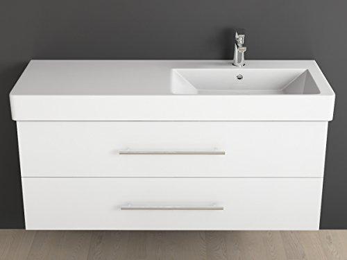 Aqua Bagno, Mobile per bagno, 120 cm, incluso lavabo in ceramica con ...