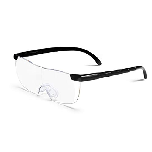 ZHANGXIDP//Leselupen Lupe mit Kopfmontage Altmodische tragbare Brille 10x High-Definition-Objektiv (Color : A)