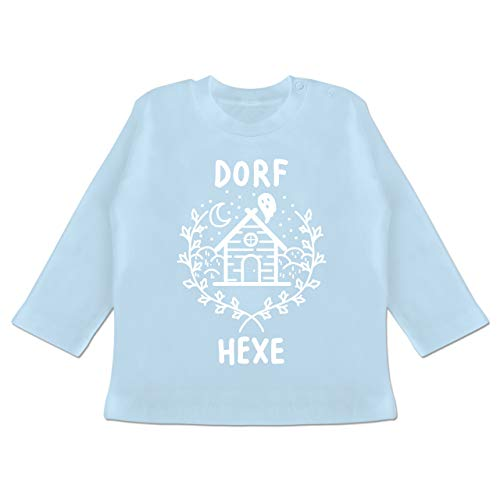 Anlässe Baby - Dorfhexe Halloween - 12-18 Monate - Babyblau - BZ11 - Baby T-Shirt Langarm