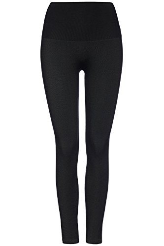 find. Leggings Efecto Denim para Mujer , Negro (Black), 42 (Talla del Fabricante: Large)