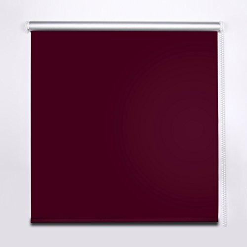 SHINY HOME® Tende Avvolgibili a Rullo Oscuranti Isolanti Termiche e Solari per finestre 120x175cm - colore: Bordeaux