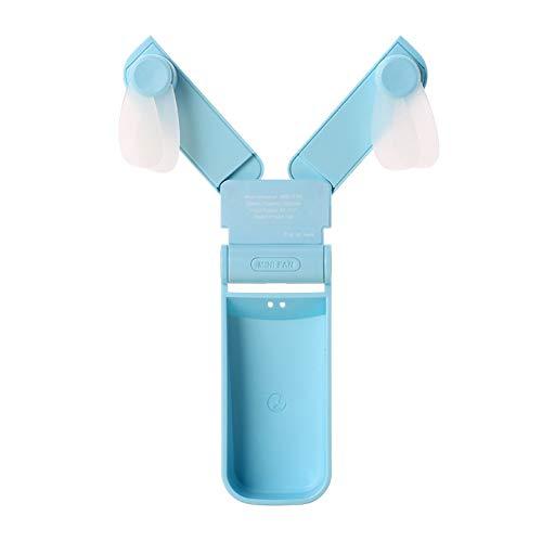 Rabatt-fliesen (Leobtain Einzel/Doppel Kopf Handheld Mini Fan Tragbare Falttasche Fan USB Wiederaufladbare Schreibtisch Falttasche Ventilator Kleine Reisefans für Home Travel Camping)