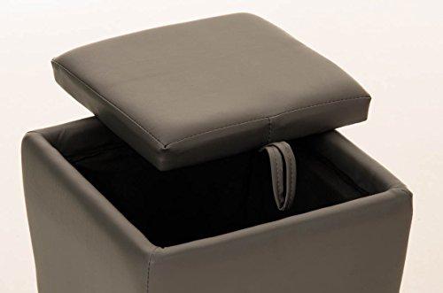 Clp sgabello roxy con vano portaoggetti pouf portaoggetti con