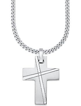s.Oliver Herren-Kette Edelstahl Kreuz-Anhänger 47+3 cm