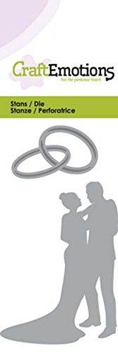 CraftEmotions Die - Hochzeitspaar Card