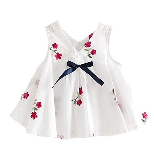 Kostüm Wassermelone Kleinkind - Baby Kleid Sasstaids Mädchen Kleid Kinderbaby Blumen Prinzessin Embroidered Dress Sundress Summer Ärmellose gestickte Wassermelone Flower Princess Dress