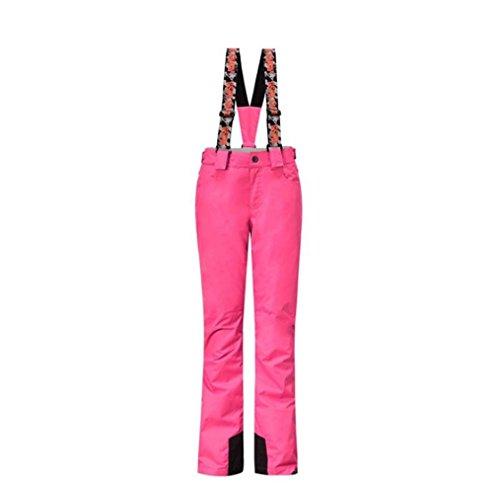 Wonny Damen Skihose Pants Wasserdicht Snowboard Winter Snowboardhose Pink XS