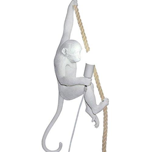 ZWD Lustre animal, restaurant créatif magasin de vêtements résine décoration lustre enfant chambre lustre corde de chanvre lustre lampe murale lampe de table lampe de plancher Luminaire (Couleur : A)