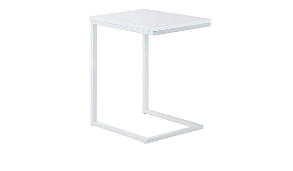 Dbscd Side Tables Tables Sofa Side End Table C Table Snack Table With Wood Finish And Steel Construction For Coffee Snack Tablet Color White Size 40 30 60cm Amazon Co Uk