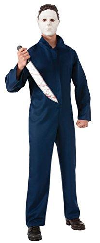 ,Karneval Klamotten' Kostüm Michael Myers Halloween Herrenkostüm Overall inkl. Maske Größe 52/54 (Michael Myers Erwachsene Herren Kostüme)