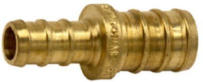 Brass Coupling (Watts PEX LFP-701 Barb Reducing Coupling 3/4-Inch x 1/2-Inch Low-Lead, Brass by Watts)