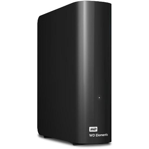 WD WDBWLG0040HBK-EESN Elements Hard Disk Esterno Desktop, USB 3.0, 4
