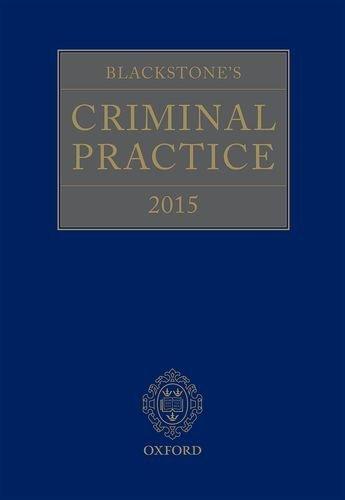 Blackstone's Criminal Practice 2015 by Professor David Ormerod QC (Hon) (2014-10-09)