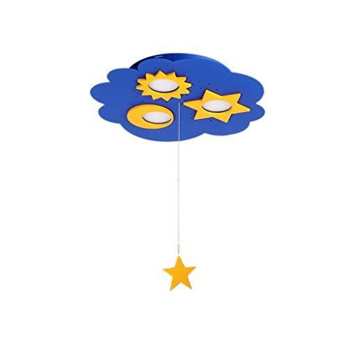 MGMDIAN LED-Deckenleuchte-Kinderzimmer-Licht-Schlafzimmer-Licht-Beleuchtung-Sonne und Mond Sterne-Beleuchtung Kreative ultradünne Deckenleuchte - Sterne Mond Badezimmer Sonne Und