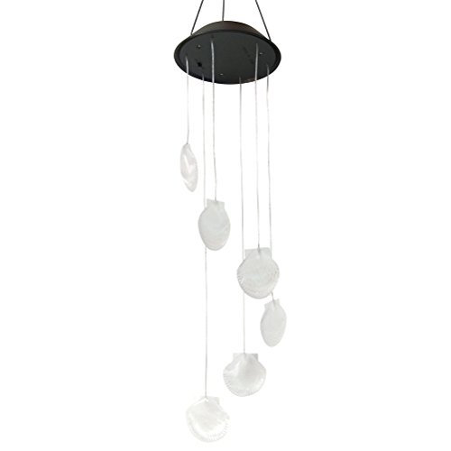 LEDMOMO Wind Chime Lichter, Farbwechsel Solar Wind Chimes Seashell LED Windspiele für Party Balkon Terrasse Dekoration
