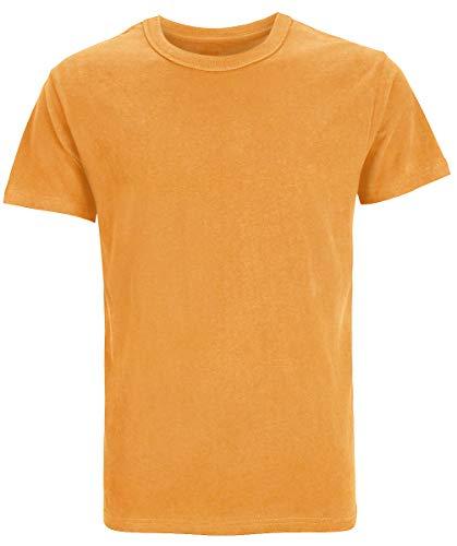 100% Baumwolle Tee (COSAVOROCK Herren Dicke Schwere Baumwolle T-Shirts (XXL, Orange))