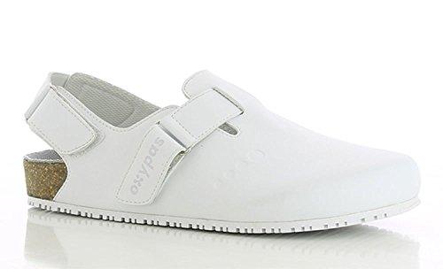 Oxypas Bianca, Pantolette für Medizin, Farbe: Weiß (WHT), Größe: 39