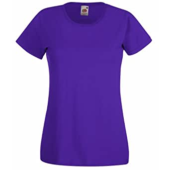Fruit Of The Loom - Maglia Manica Corta - Donna (XS) (Viola)