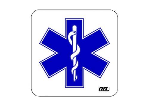 EMT EMS PAramedic Getränkeuntersetzer Set Geschenk Zuhause Küche Bar Barware Star of Life
