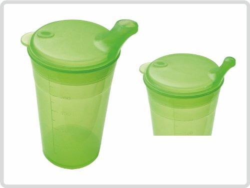 Trinkbecher-Set Tee und Brei, kurzes Mundstück, grün
