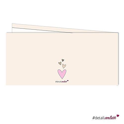 Detailverliebt! 25 liebevolle Danksagungskarten im praktischen DIN Lang Format, mit passenden Briefumschlägen, dv_172 – der ideale Weg, sich nach der