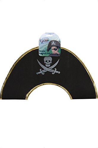 Smiffys Kinder Jungen Piraten Totenkopf Kapitän Hut, One Size, (Piraten Kapitän Hut)