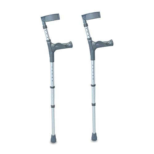 NRS Healthcare - Par de Muletas ajustables, con agarre cómodo.