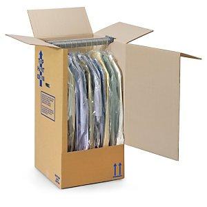 1 Verpackungseinheit (5 Stück) Kleiderboxen<br/>Innenmaße: L 500 mm x B 500 mm x H 1350 mm<br/>geeignet für Hosen, Mäntel thumbnail