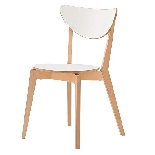 YCYZJBD Frühstücksstühle Barhocker Hoher Schemel, hölzerner speisender Stuhl-Moderne Rückenlehne-Frühstücksbar-Küchen-Stühle weiß Vintage rustikale Industriedesign -
