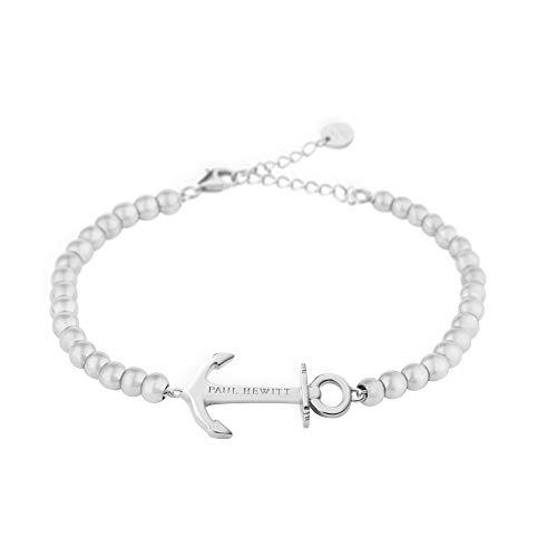 PAUL HEWITT Perlenarmband Damen Anchor Spirit - Silber Armkette Damen mit Anker Schmuck aus Edelstahl