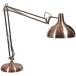 XXL - Lámpara de pie articulada (metal, 180 cm de altura), color rojo