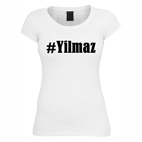 T-Shirt #Yilmaz Hashtag Raute für Damen Herren und Kinder ... in den Farben Schwarz und Weiss Weiß