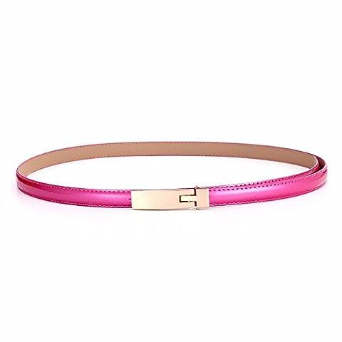 LONFENNE Miroir de la mode ceinture femme candy couleur décoration fashion tour de taille 80-95cm,Rose