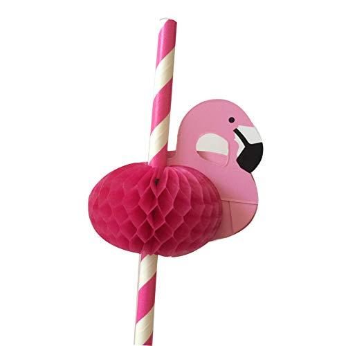 SWIDUUK SEAWOOD 5x Cute Flamingo Papier Fruchtsaft Trinken Cocktail Trinkhalme Baby Dusche Party Bar Geburtstag Decor Zubehör Giift rosarot