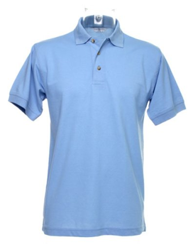 Kustom Kit Workwear Pique Polo Blau - Hellblau