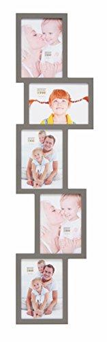 9 Bilderrahmen für 5 Fotos, Holz, 13 x 18 cm, Taupe ()