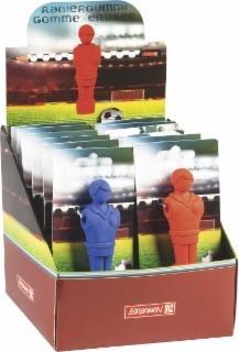 Preisvergleich Produktbild Radiergummi Kicker Figur rot oder blau