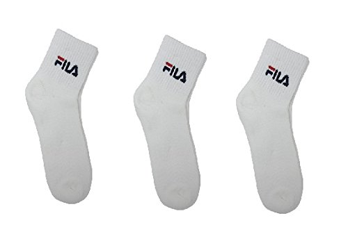 FILA UNISEX 3 PACK WHITE ANKLE LENGTH SOCKS ( FREE SIZE )  available at amazon for Rs.507