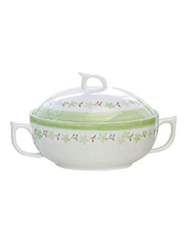 L.HPT Salatschüsseln Kreative 9-inch Keramik Obstsalat Schüssel Hause Suppe Schüssel Nudel Dish Bowl Hot Pot, mit Abdeckung Ohren Nudelschale (Farbe : Yaffi Pot) 2l T-pot