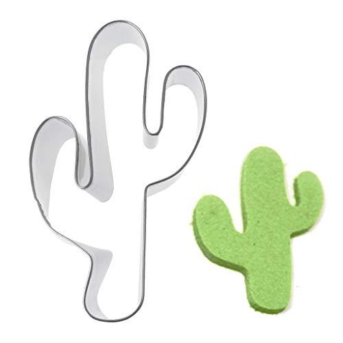 Qiman DIY Ausstecher, Edelstahl Kaktus Cookie Schablonen Pancake Biscuit Cutter Tools Backmodi (Halloween-kürbis Schablonen Disney)