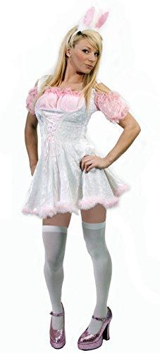 Ostern Sexy Kostüm - DAMEN-KOSTÜM SEXY BUNNY OUTFIT OSTERN HASE ROSA PETTICOAT KLEID MIT SCHÜRZE HASE MIT OHREN UND GENICKSTÜCK