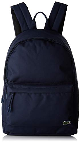 Lacoste - Nh2677ne, Mochilas Hombre, Azul (Peacoat), 14x40x31 cm (W x H...