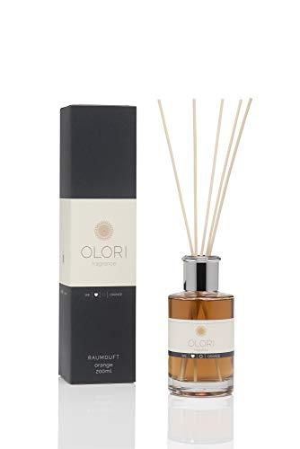 OLORI Reed Raumduft - Orange - 200 ml - verschiedene Sorten - natürlich, langanhaltend, fruchtig, spritzig, süß, mediterran ...