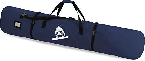 normani Snowboardtasche Snowboardbag dopplet gepolsterter Board Bag - 166 cm Länge mit integriertes Adressfeld und Schultergurt Farbe Navy